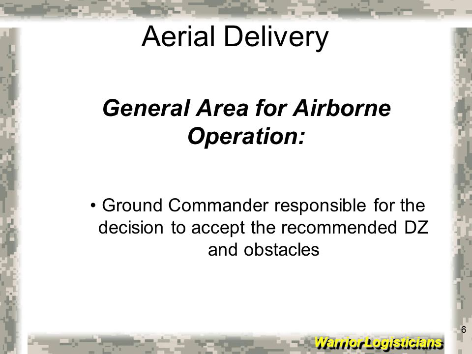General Area for Airborne