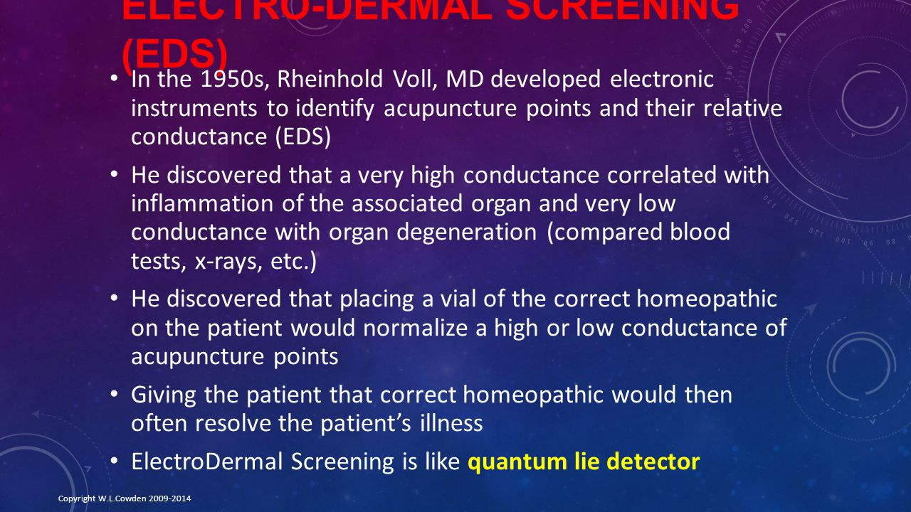 Electro-Dermal Screening (EDS)