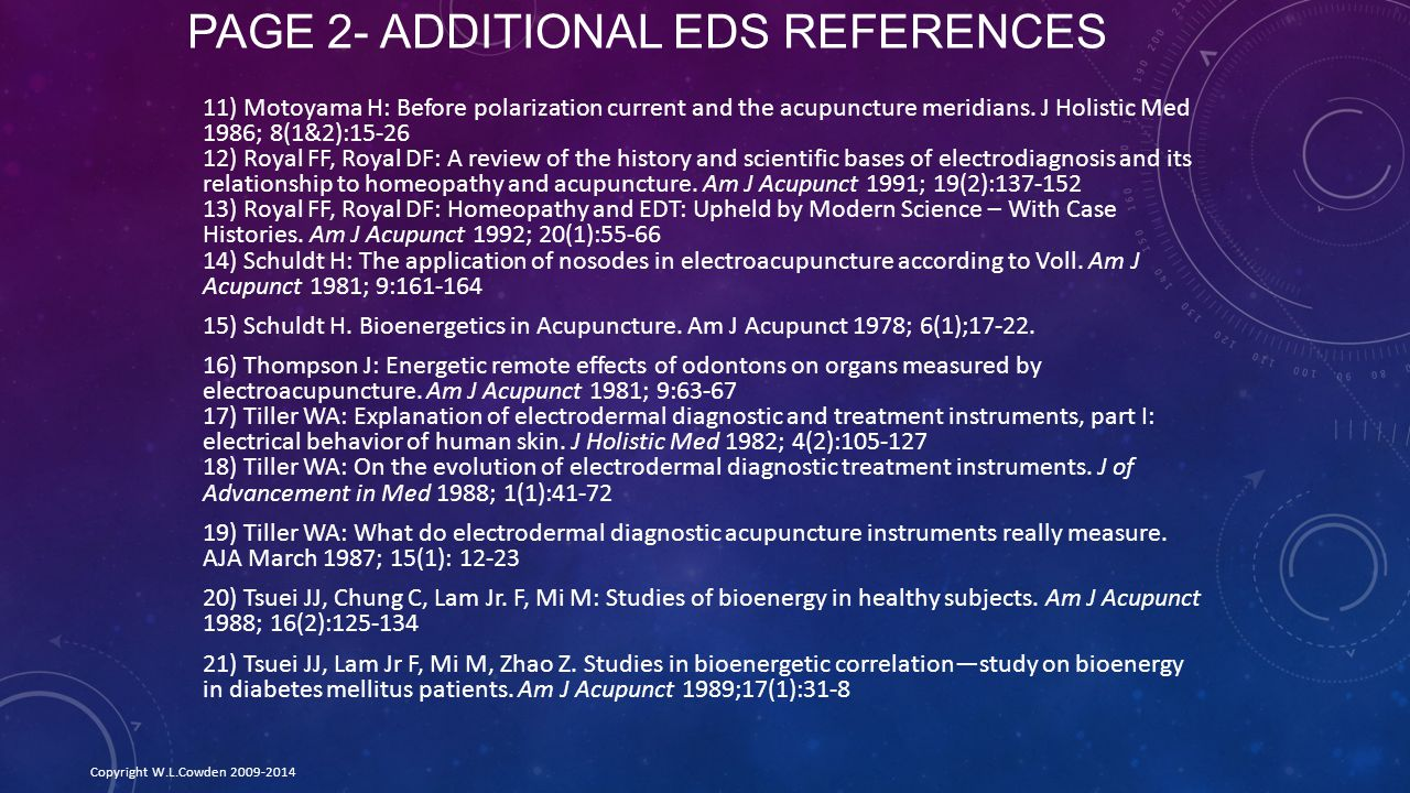 Page 2- Additional EDS References