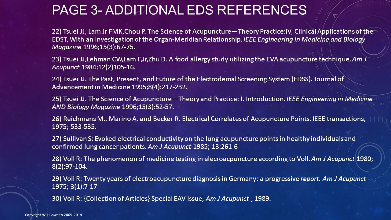 Page 3- Additional EDS References