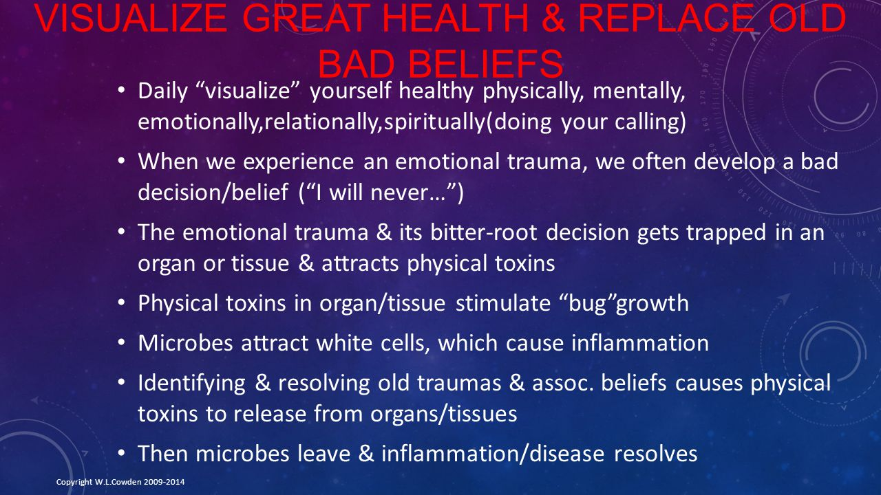Visualize Great Health & Replace Old Bad Beliefs