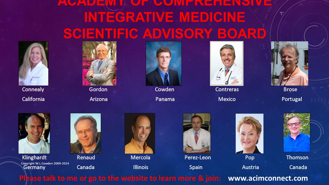 Academy of Comprehensive Integrative Medicine Scientific advisory board