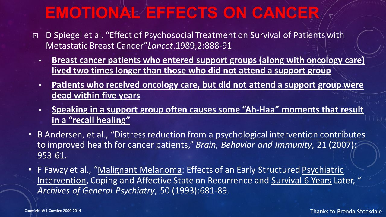 Emotional Effects on Cancer