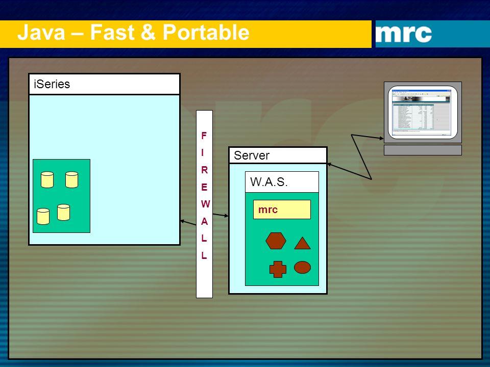 Java – Fast & Portable iSeries F I R E W A L Server W.A.S. mrc 1 1
