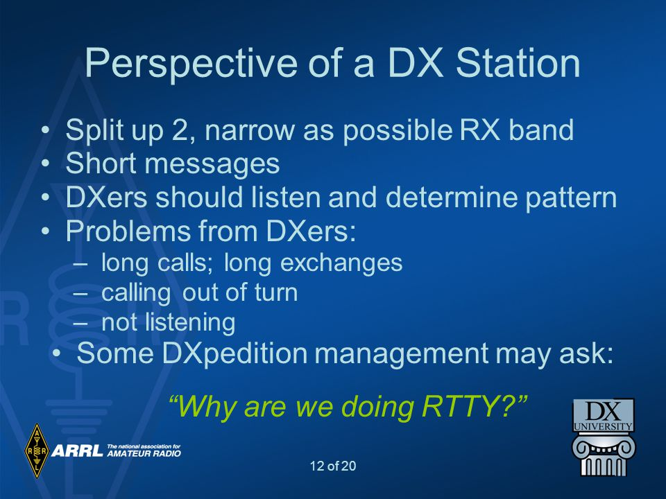 Perspective of a DX Station