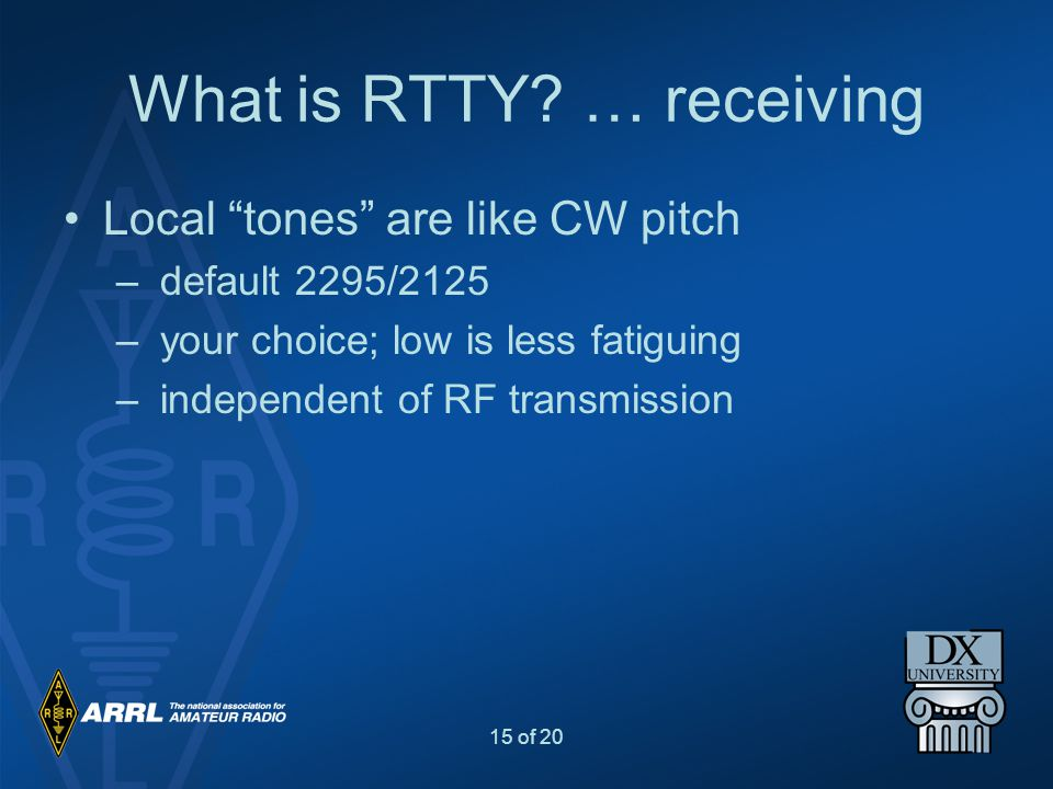 What is RTTY … receiving