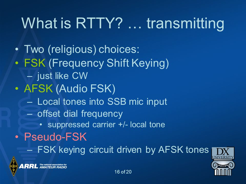 What is RTTY … transmitting