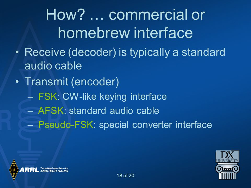 How … commercial or homebrew interface