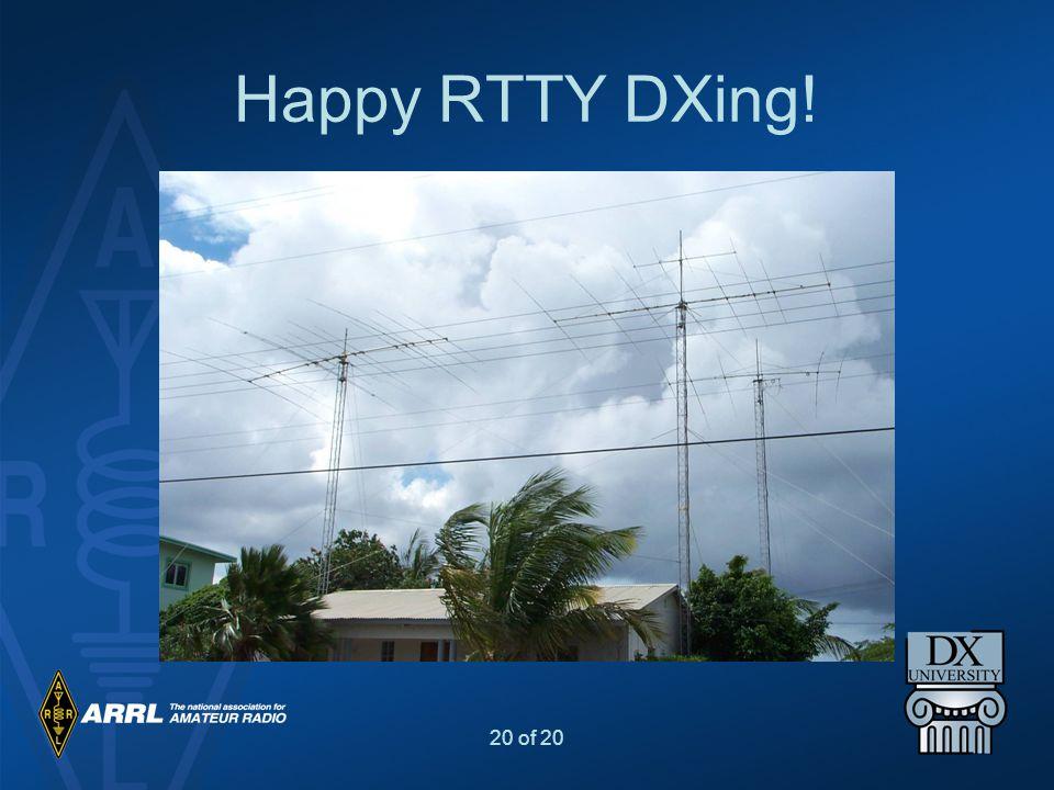 Happy RTTY DXing!