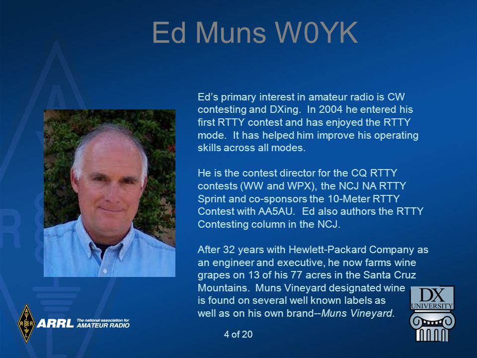 Ed Muns W0YK