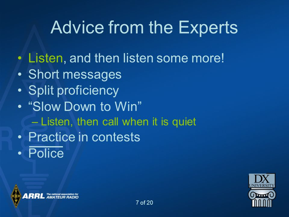 Advice from the Experts