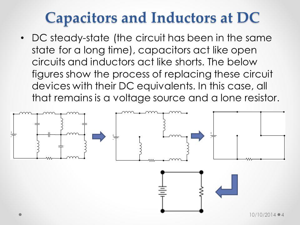 Capacitors and Inductors at DC