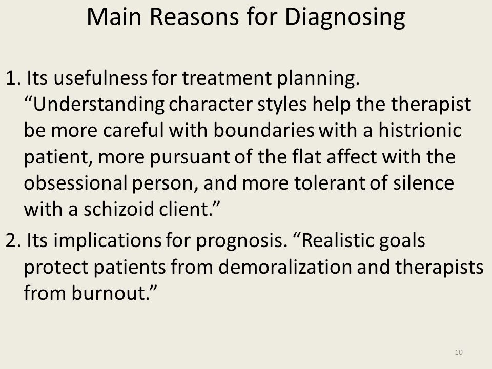 Main Reasons for Diagnosing