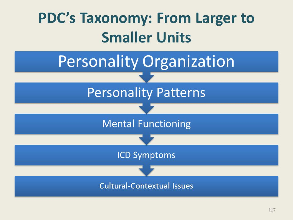 PDC's Taxonomy: From Larger to Smaller Units