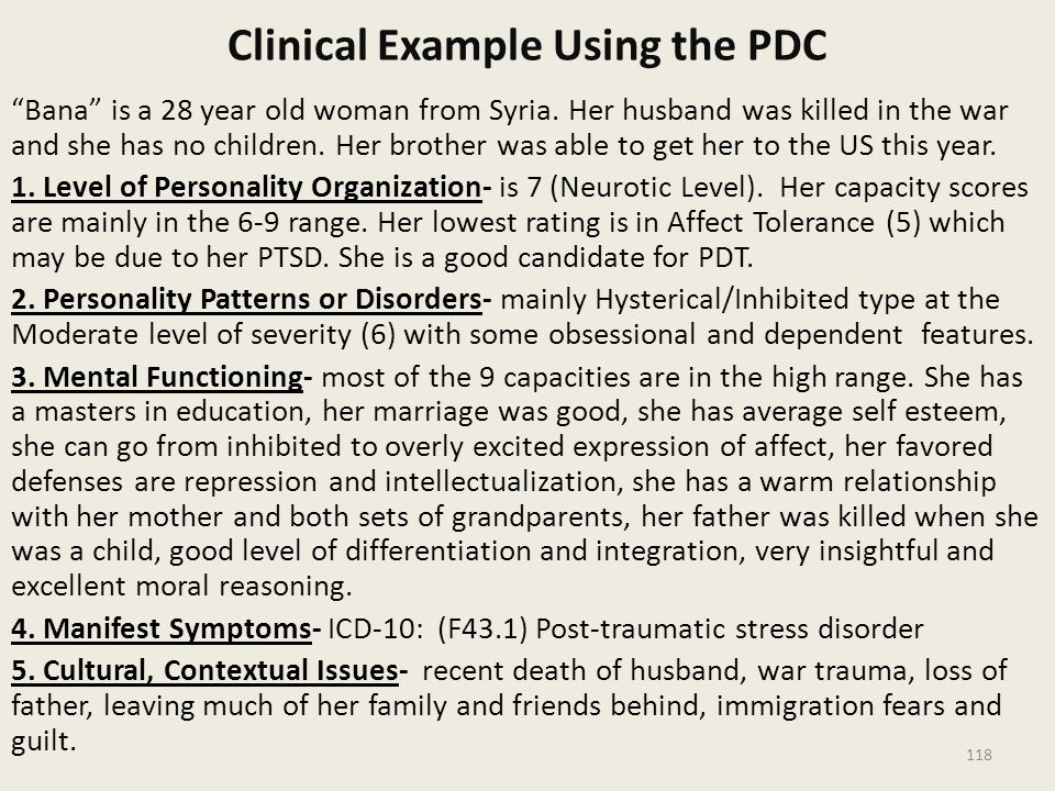 Clinical Example Using the PDC