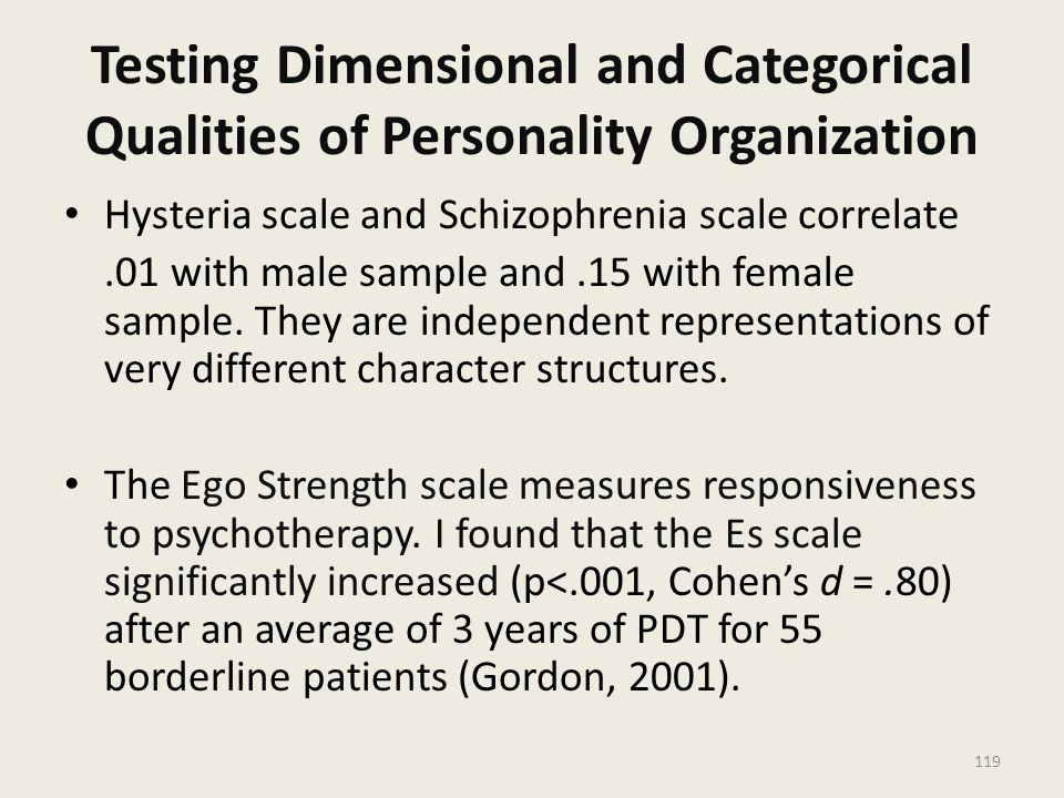 Testing Dimensional and Categorical Qualities of Personality Organization
