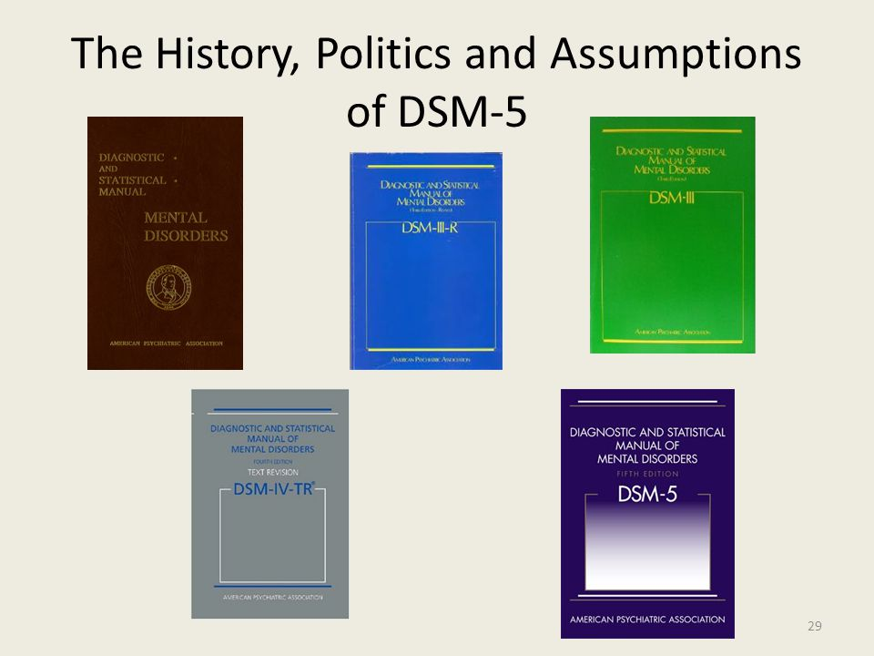 The History, Politics and Assumptions of DSM-5