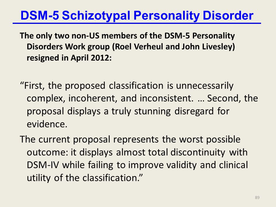 DSM-5 Schizotypal Personality Disorder