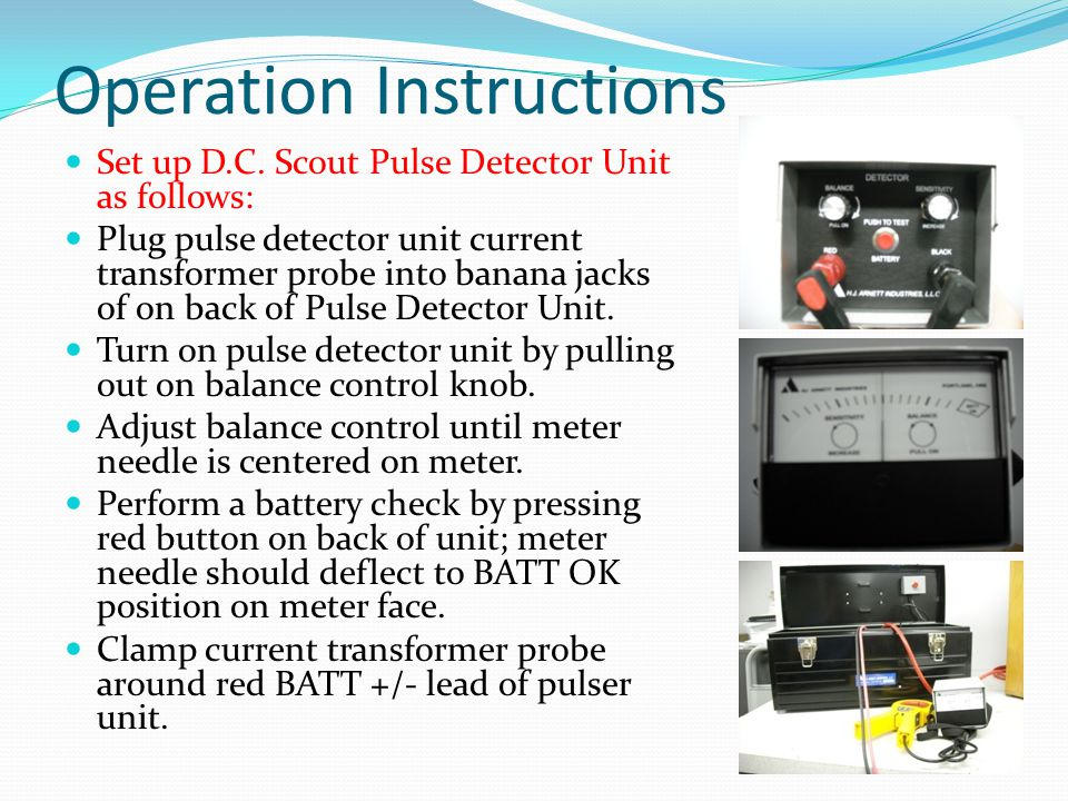 Operation Instructions