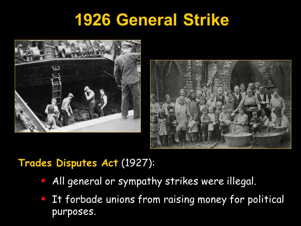 1926 General Strike Trades Disputes Act (1927):