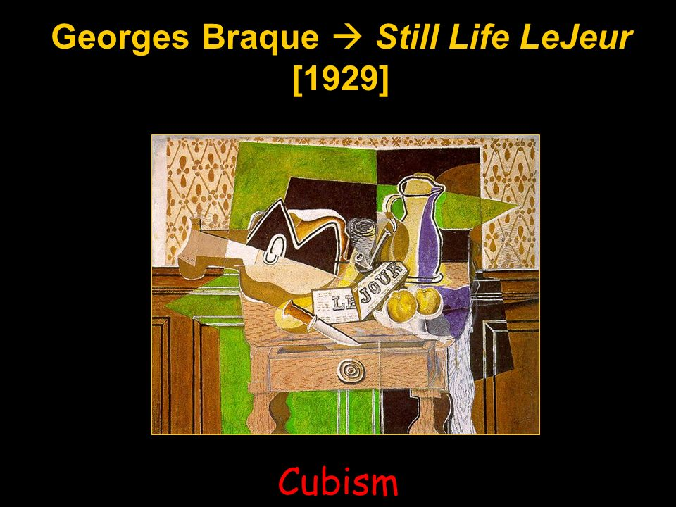 Georges Braque  Still Life LeJeur [1929]