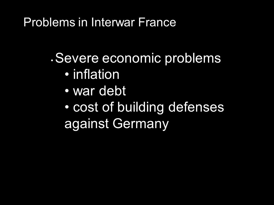 cost of building defenses against Germany