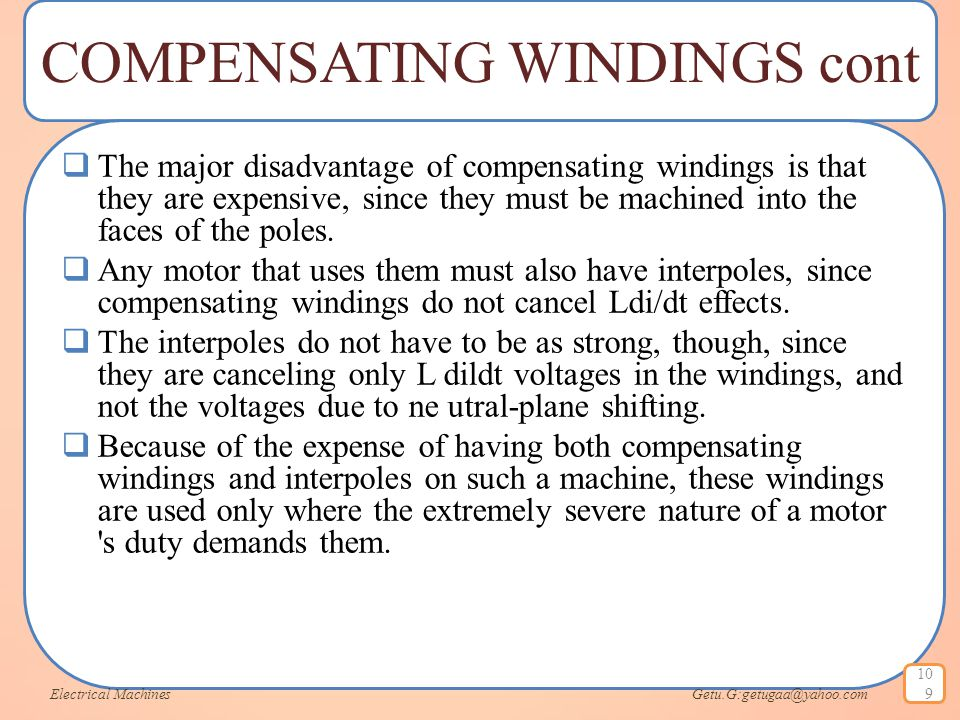 COMPENSATING WINDINGS cont
