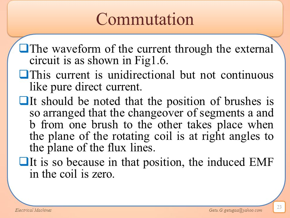 Commutation The waveform of the current through the external circuit is as shown in Fig1.6.