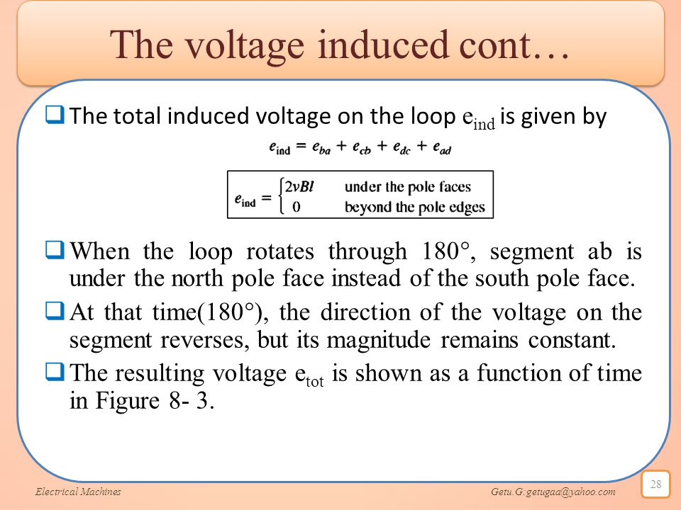 The voltage induced cont…