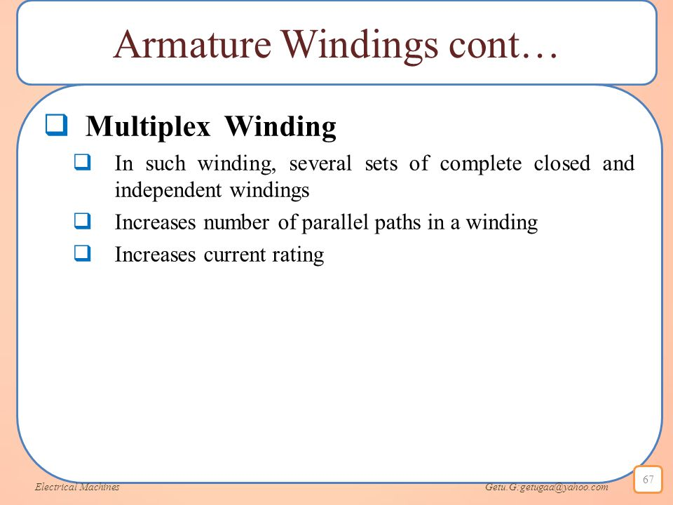 Armature Windings cont…