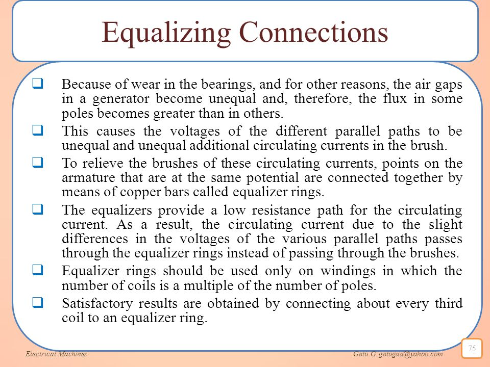 Equalizing Connections