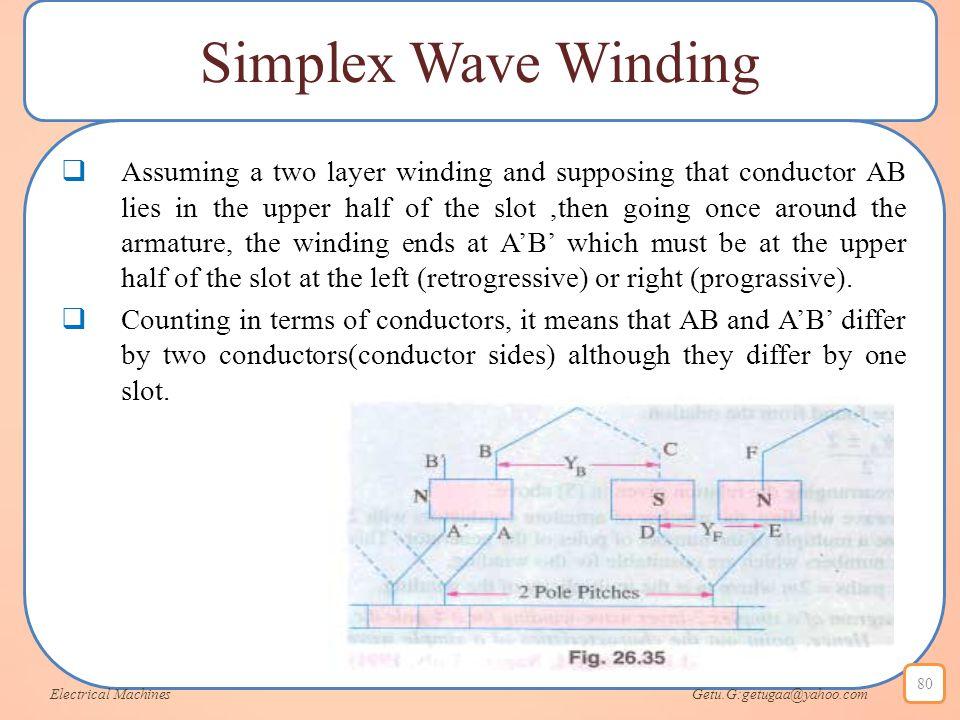 Simplex Wave Winding