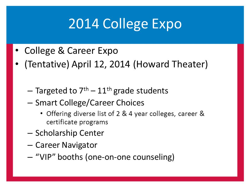 2014 College Expo College & Career Expo