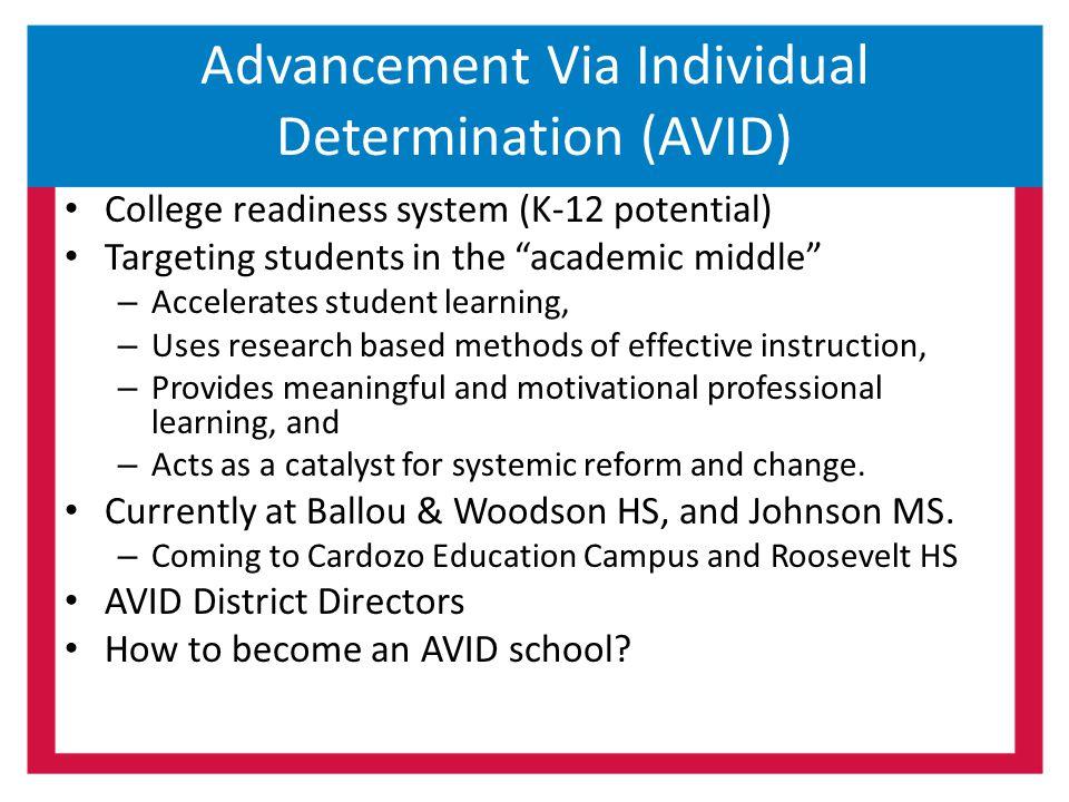 Advancement Via Individual Determination (AVID)