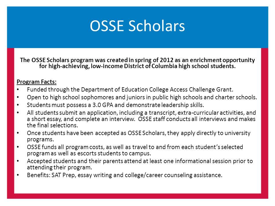 OSSE Scholars