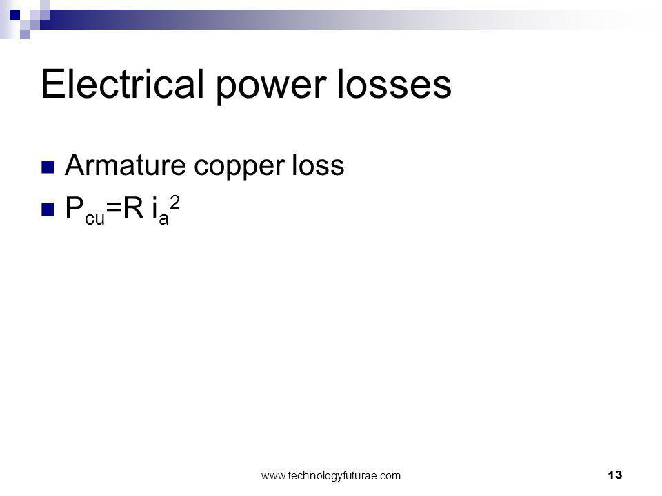 Electrical power losses