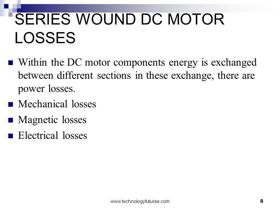 SERIES WOUND DC MOTOR LOSSES