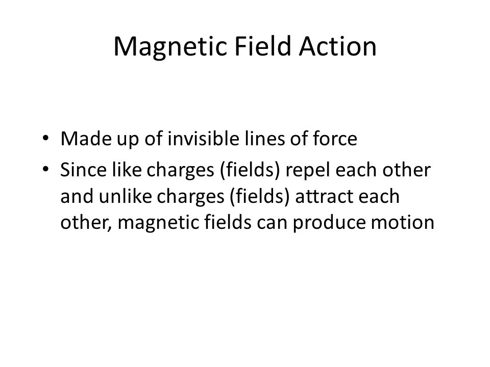 Magnetic Field Action Made up of invisible lines of force