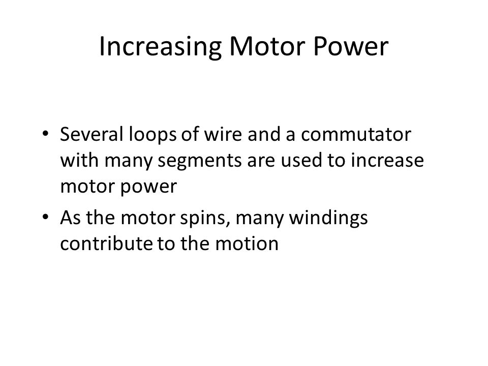 Increasing Motor Power