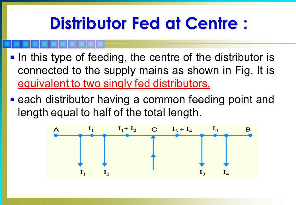 Distributor Fed at Centre :