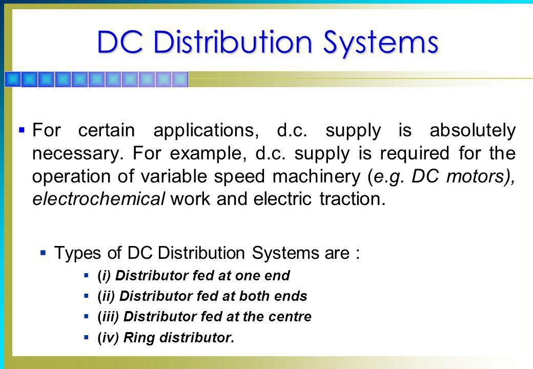 DC Distribution Systems