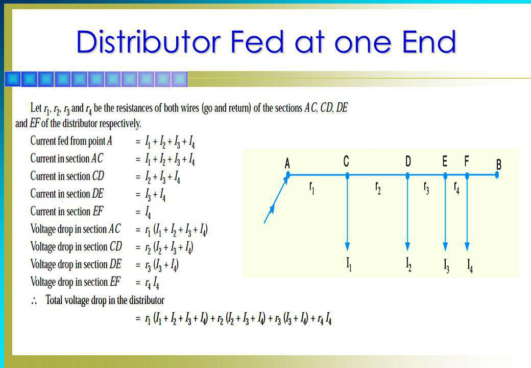 Distributor Fed at one End