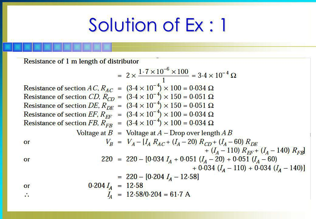 Solution of Ex : 1