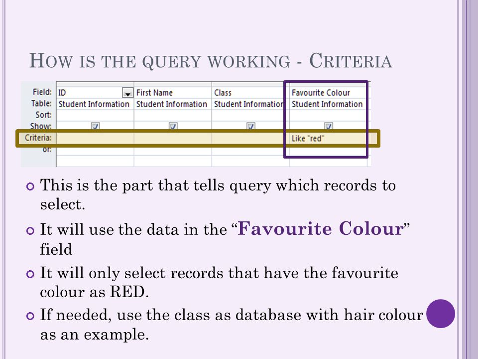How is the query working - Criteria