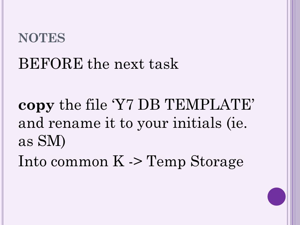 Into common K -> Temp Storage