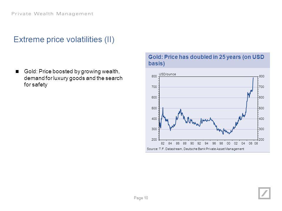 Extreme price volatilities (II)