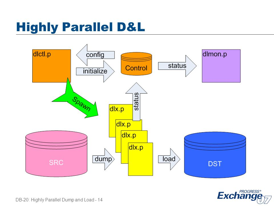 Highly Parallel D&L Explain mapping to machine resources.