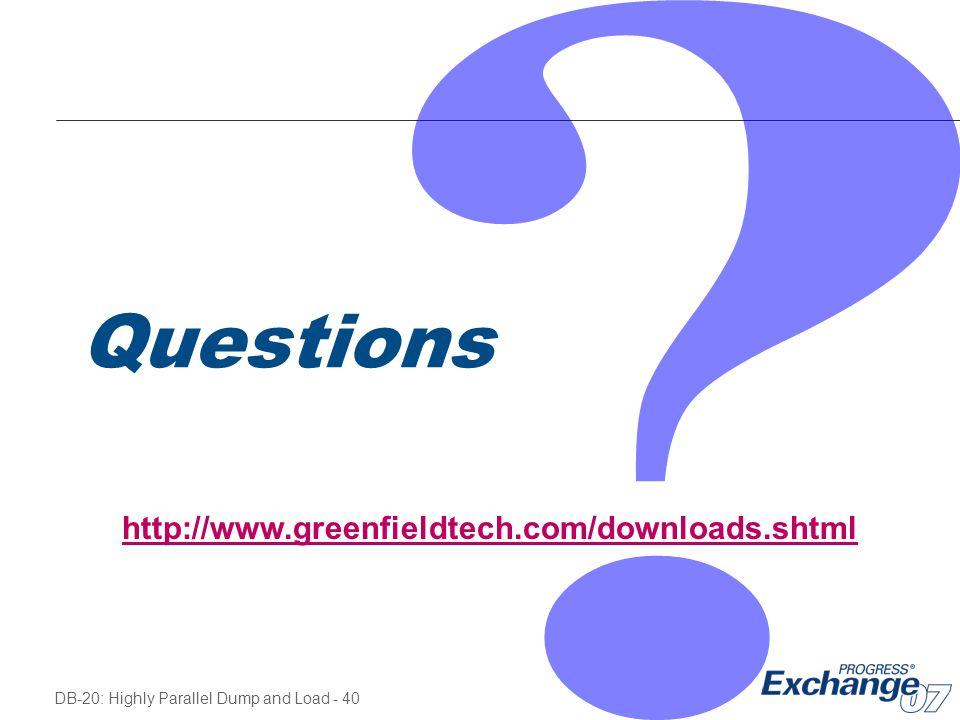 Questions http://www.greenfieldtech.com/downloads.shtml
