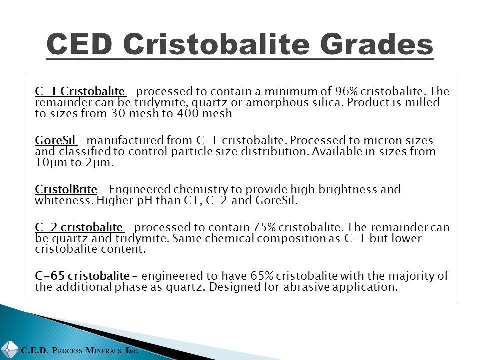 CED Cristobalite Grades
