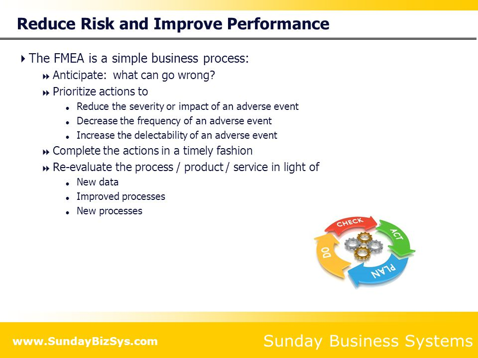 Reduce Risk and Improve Performance